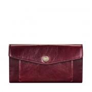 Maxwell-Scott weinroter Leder Geldbeutel in Briefumschlag Optik - Forli - Brieftasche, Portemonnaie, Geldbörse, Kreditkartenetui