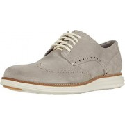 Cole Haan W-Width Oxford para hombre, Gamuza gris/marfil, 7 Wide