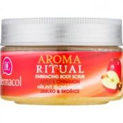 Dermacol Aroma Ritual peeling para corpo com efeito de aquecimento maçã e canela 200 g