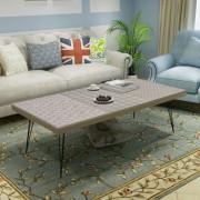 vidaXL Coffee Table 120x60x38 cm Grey