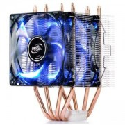 Охладител за процесор DeepCool FROSTWIN LED, Blue LED, Silver, DP-MCH4-FT-LEDV2