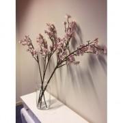 Geen Vaas met 5 roze appelbloesem kunstbloemen takken 104 cm