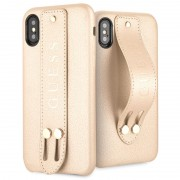 Capa Guess Saffiano Strap para iPhone X / iPhone XS - Bege