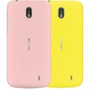 Set 2 carcase (capace spate) pentru Nokia 1 roz + galben