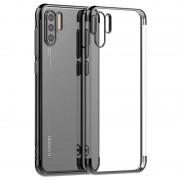 Electroplated Frame Series Huawei P30 Pro TPU Case - Black