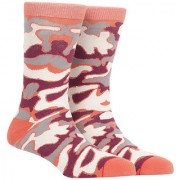 Soxytoes Camoflauge Orange Cotton Calf Length Pack of 1 Pair for Men Formal Socks (STS0026C)