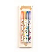 Zestaw markery 4 kolory klasyczne brokatowe TINOU DJECO DD03740