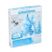 Grundig - LED Decorațiune de crăciun 8xLED/3xAAA Santa