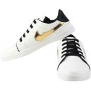KEMPACE 311-White-Sneaker Sneakers For Men(White, Black, Gold)