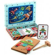 Przybijanka dla dzieci - układanka budowa rakiet, zestaw kosmos DJECO, DJ06642 - kosmos