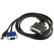 Male DVI M1-DA to VGA/USB Adapter Cable - 1,8m - Black