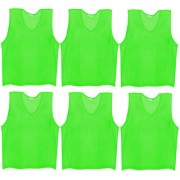 SAS Sports Training Bibs Scrimmage Vests Pennies for Soccer - Extra Large size (72 x 62cm) Green color Set of 6