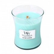 WoodWick Sea Salt & Cotton Doftljus - Mini - 85ml