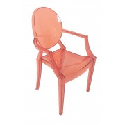 Replica Louis Ghost Chair - Transparent Red
