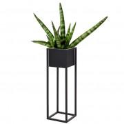 Kwietnik metalowy czarny DONICZKA stojak podstawa osłonka 70 cm