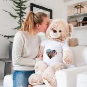 YourSurprise Mega knuffelbeer met naam