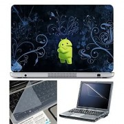 FineArts Laptop Skin 15.6 Inch With Key Guard & Screen Protector - Android Blue Wallpaper