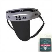 "MM Original Edition Bike Style Adult Supporter 2"" Waistband Jock Strap Underwear Black/Grey"