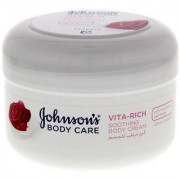 IMPORTED JOHNSONS BODY CARE VITA RICH BODY CREAM WITH ROSE WATER - 200 ML