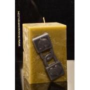 kaarsen: Dubbel hangslot Kaars, hoogte 10 cm 105