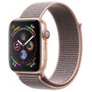 Smartwatch Apple Watch 4, 40mm, LTPO OLED Retina Display, GPS, Bluetooth, Wi-Fi, Bratara Sport Loop Roz, Carcasa aluminiu, Rezistent la apa si praf (Gold)