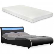 """Corium® Čalouněná postel """"Valencia"""" HTB-1042 a matrace - 200 x 180 cm"""