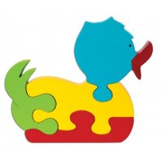 Skillofun Wooden Take Apart Puzzle Duck, Multi Color