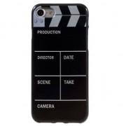 GadgetBay Etui de film iPhone 7 8 Clapper cover Noir blanc Etui en TPU