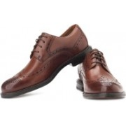 Clarks Dorset Limit Genuine Leather Lace Up Shoes For Men(Brown)