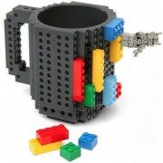 Taza Build-on Con Diseño De Bloks Ladrillos De Construccion Lego