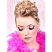 No 501 Svart-rosafärgade glamourögonfransar