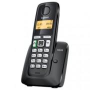 Безжичен телефон Gigaset A220, течнокристален черно-бал дисплей, черен