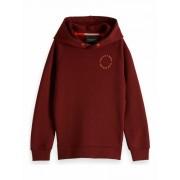 Scotch & Soda! Jongens Sweater - Maat 140 - Bordeaux Rood - Katoen/polyester
