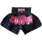 Pantalones Cortos De Pugilismo Tailandés Con Bordados Para Unisexo - Negro