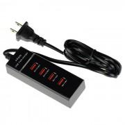BSTUO Multi-funcion EE.UU. enchufes USB 4-Port cargador rapido - Negro
