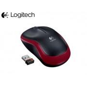 Logitech M185 piros/fekete optikai vezeték nélküli USB Egér (2 év garancia)