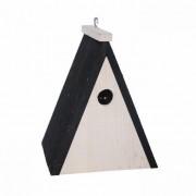 Geen Driehoekig houten vogel nestkastje 18 cm