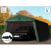 3,66x7,7m garázssátor mobilgarázs 500g/m2 PVC ponyva (Premium)