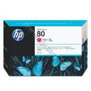 Мастило HP 80, Magenta (350 ml), p/n C4847A - Оригинален HP консуматив - касета с мастило