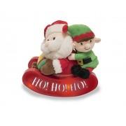 Cuddle Barn Christmas Animated Singing Dancing Light Up Santa's Sleigh Ride