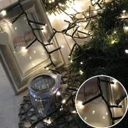 Karácsonyi led fényfüzér, girland, IP44, kültérre is! 400 db meleg fehér leddel. Life Light led