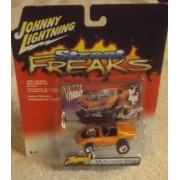2005 Johnny Lightning Street Freaks Zingers White Lightning 68 Corvette Coupe Orange #44