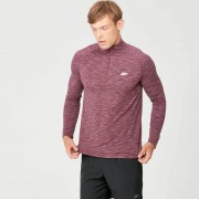 Myprotein Performance Long-Sleeve ¼ Zip-Top - XS - Burgundy Marl