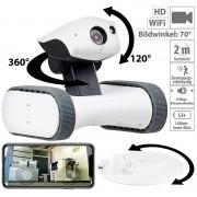 7links Home-Security-Rover m. HD-Video, IR-Nachtsicht, weltweit fernsteuerbar