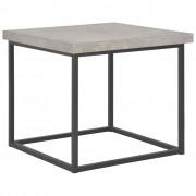 vidaXL Маса за кафе, 55x55x53 см, бетонен вид
