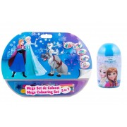 Pachet Frozen - Mega set de colorat 5 in 1 + Set de colorat suflarici spray 24 culori