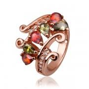 Gold filled, rózsaaranyozott gyűrű