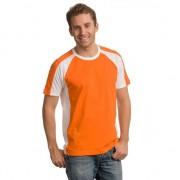 Lemon & Soda Comfort cut oranje heren shirt