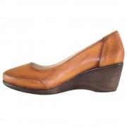 Pantofi piele naturala dama - maro, Dogati shoes - toc mediu - 5055-V-Brown