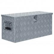 vidaXL Cutie din aluminiu, 80 x 30 x 35 cm, argintiu